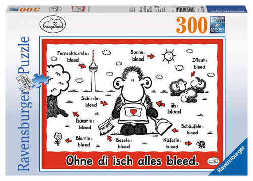 Puzzle Ravensburger 300 Teile - Sheepworld : Ohne di isch alles bleed 131969