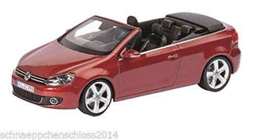 Schuco VW Golf 6 Convertible 2013 redmetallic