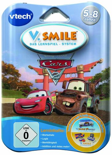 VTech 80-084584 - V.Smile Motion Lernspiel Cars 2