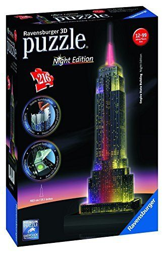 Ravensburger 12566 Empire State Building bei Nacht 3D Puzzle