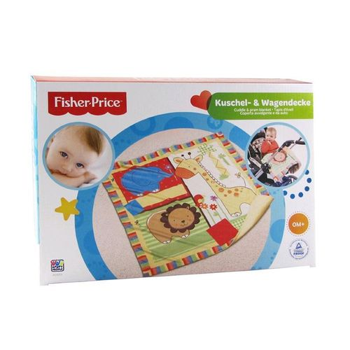 Fisher-Price Happy People 40839 Kuschel-Wagendecke 78x78 cm