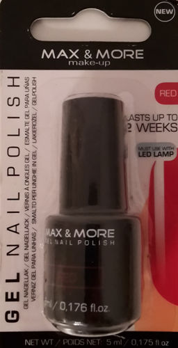 Max & More Gel Nagellack Red
