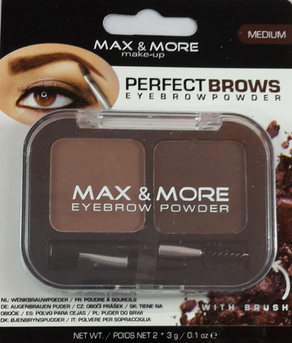 Max & More Eyebrow Powder Medium
