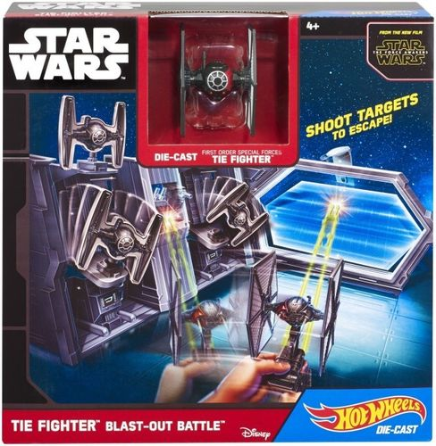 Mattel Hot Wheels Star Wars CMT37 Tie Fighter Blast-Out Battle