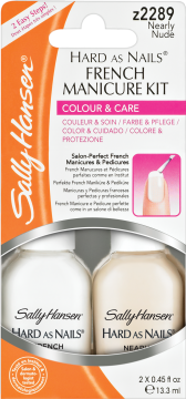 Sally Hansen Hard as Nails French Manicure Kit Z2289 Nearly Nude 2x 13,3ml