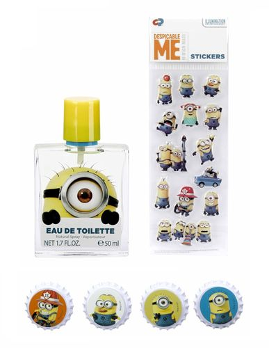 Despicable Me Minions Geschenkset - Eau de Toilette 50ml & Stickers & Magnete