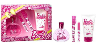 Barbie Geschenkset - Eau de Toilette, Lip Gloss 2,5ml & Body Lotion 150ml