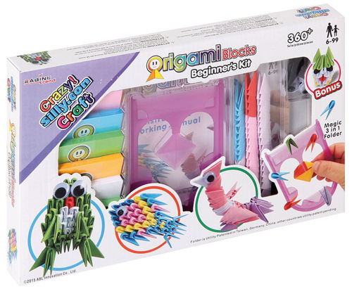 Crazy! Silly.Con Craft Origami Blocks Beginner's Kit