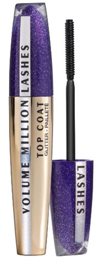 L'Oreal Volumen Million Lashes Glitter Gel Top Coat Mascara Lila