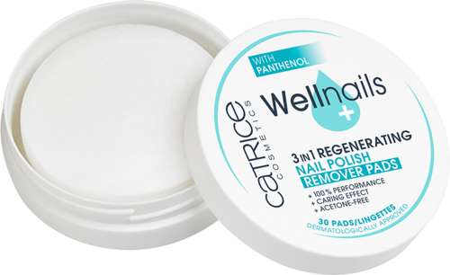 Catrice WELLnails with Panthenol 3in1 Regenerating Nail Polish Remover Pads 30 Pads