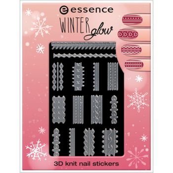 Essence Winter Glow 3D Knit Nail Stickers 01 Cold Hands, Warm Hearts