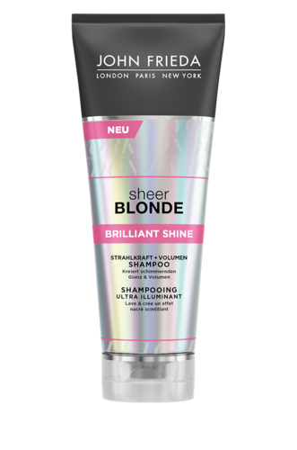 John Frieda Sheer Blonde Brilliant Shine Shampoo, Strahlkraft + Volumen 50ml