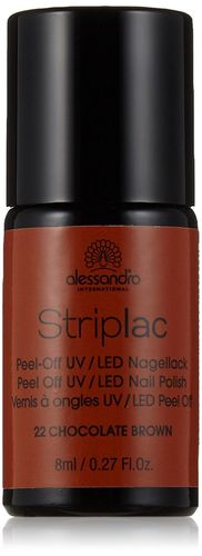Alessandro Striplac Peel-Off UV - LED Nagellack 22 Chocolate Brown 8ml
