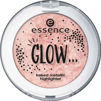 Essence Glow... Baked Metallic Highlighter 03 ... Like Glitter Is Raining Down On You 5g