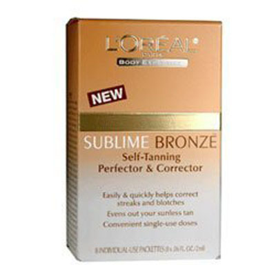 L'Oreal Sublime Bronze Self-Tanning Perfector & Corrector 8x 2ml