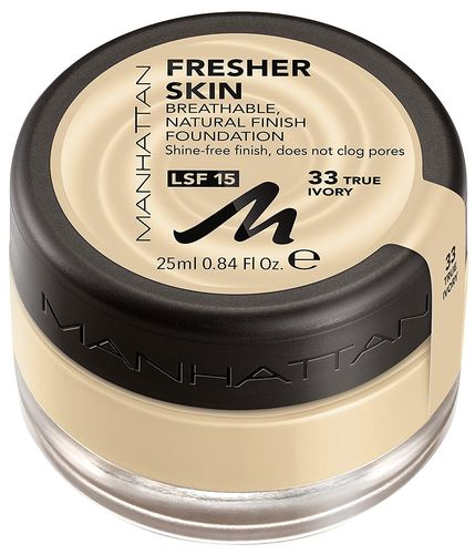 Manhattan Fresher Skin Foundation 33 True Ivory 25ml