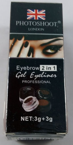 Photoshoot London Eyebrow 2in1 Gel Eyeliner + Eyebrow Powder Brown