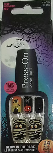 Kiss Press-On Manicure Glow In The Dark HBIPD36 Dress-Up