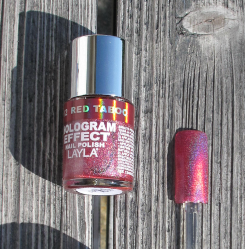 Layla Nagellack Hologram Effect 12 Red Taboo 10ml