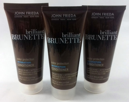 John Frieda Brilliant Brunette Color Protection Hydration Conditioner 150ml (3x 50ml)