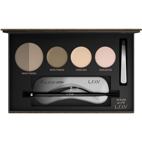 L.O.V BROWttitude Professional Eyebrow Palette No 500 Blonde Perfection 5g