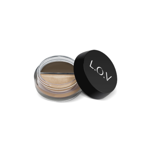L.O.V BROWlights Eyebrow Pomade & Highlighter No 120 Powerful Ebony