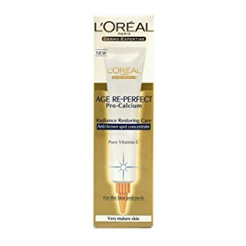 L'Oreal Age Re-Perfect Pro Calcium Anti-brown Spot Concentrate für sehr reife Haut 30ml