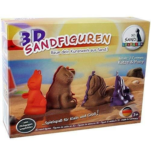 3D Sandfiguren von Sandcreation Katze & Pony