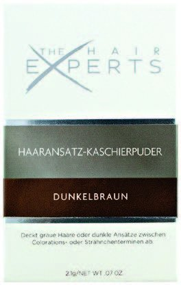 The Hair Experts Haaransatz-Kaschierpuder Dunkelbraun 2,1g
