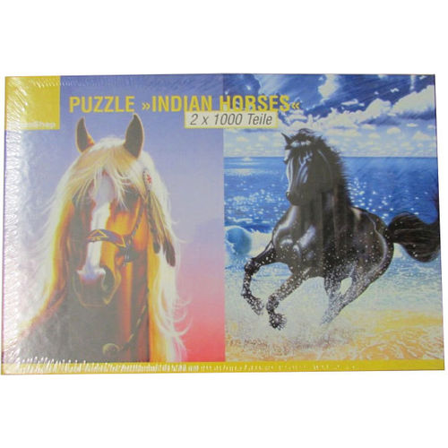 Ideen Shop Puzzle 547166 Indian Horses 2 x 1000 Teile