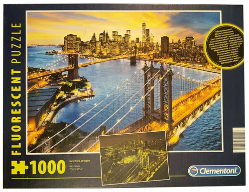 Clementoni Puzzle 97240 - 1000 Teile - New York at Night